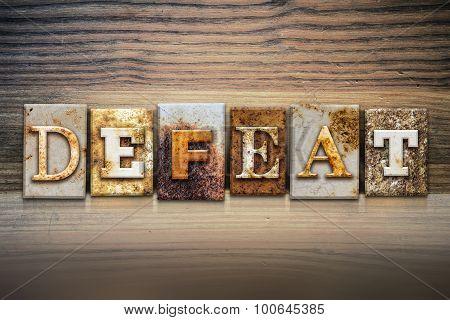 Defeat Concept Letterpress Theme
