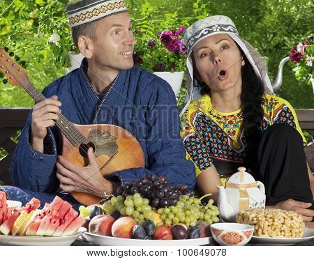 Uzbekistan Couple Playing Mandolin