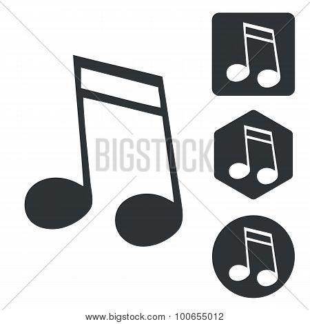 Music icon set 2, monochrome