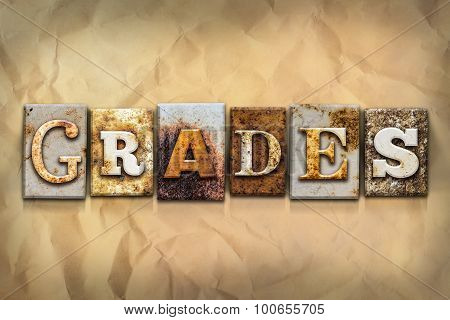 Grades Concept Rusted Metal Type