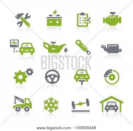 Car Service Icons // Natura Series