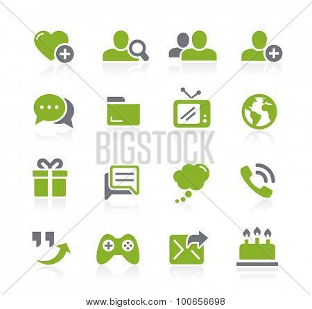 Social Communications Icons // Natura Series