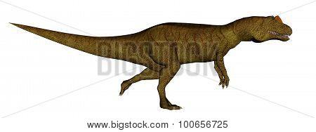 Allosaurus dinosaur running - 3D render