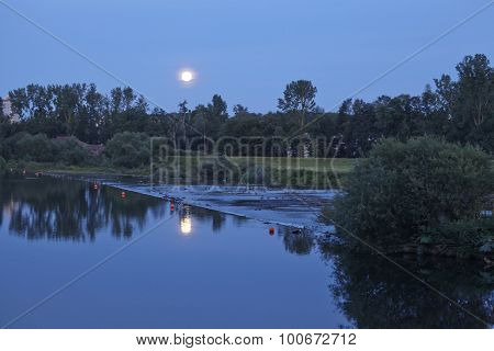 Moonrise Over River Ruhr