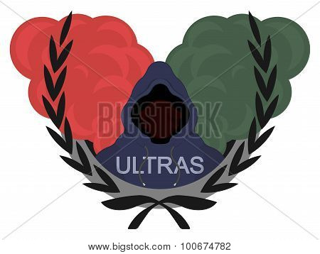 Ultras Emblem With Smoke