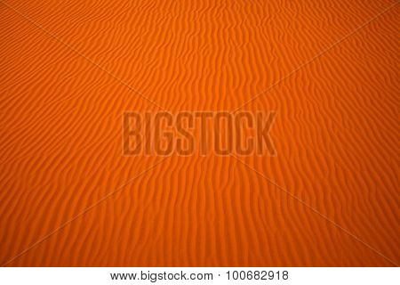 Wind created patterns in the sand dunes of Liwa oasis United Arab Emirates