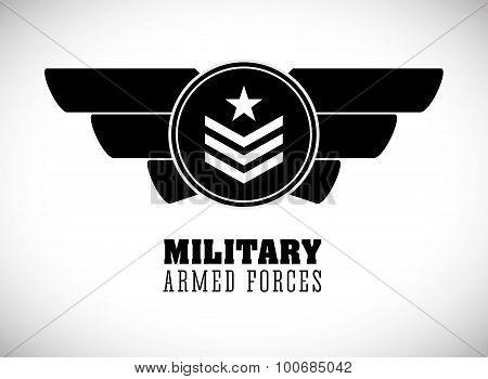 Military Armed Forces digital design, vector illustration 10 eps graphic poster
