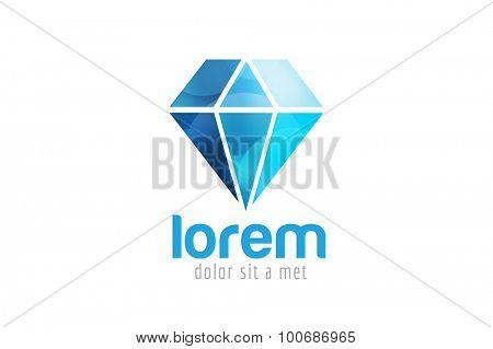 Vintage old diamond logo. Diamond icon template. Vintage retro style diamond.  Jewelry labels, ribbons, decor, ornament. Premium quality diamond vector. Diamond ogo design. Retro style