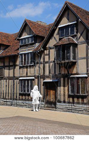 Shakespeares Birthplace, Stratford-upon-Avon.