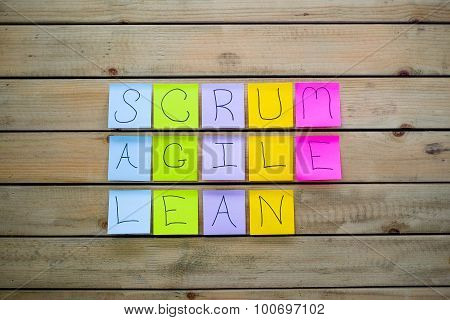 Scrum Agile & Lean Sticky Notes