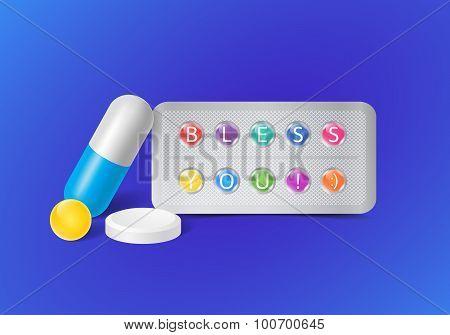 medical illustration with pills