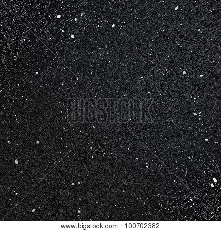 Black shiny textured background.