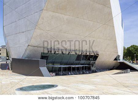 Porto, Portugal - July 05, 2015: View Of Casa Da Musica - House Of Music Modern Oporto Concert Hall.