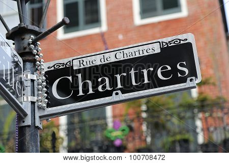 New Orleans Street Sign - Chartres