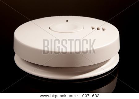 Smoke/carbon Monoxide Alarm Isolated On Black