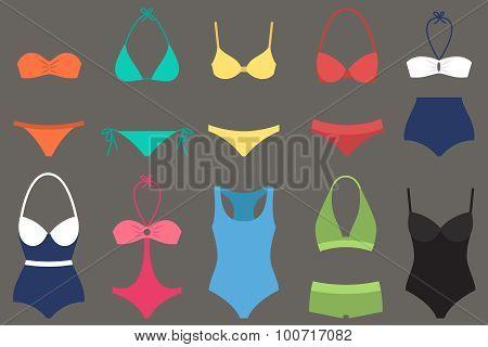 Women Swimsuit Types