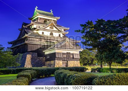 Matsue, Japan at the castle. The castle has one of the few original castle keeps in the country.