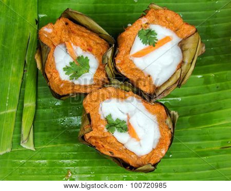 Spicy Curry Fish Thai Favorite Food