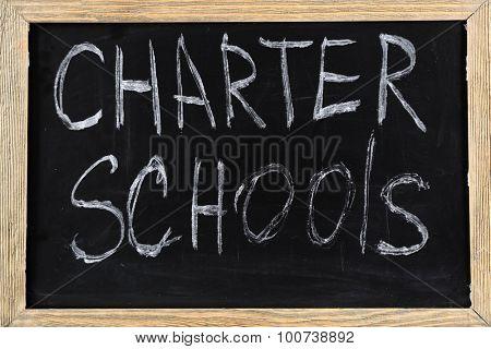 Charter Schools written on chalkboard