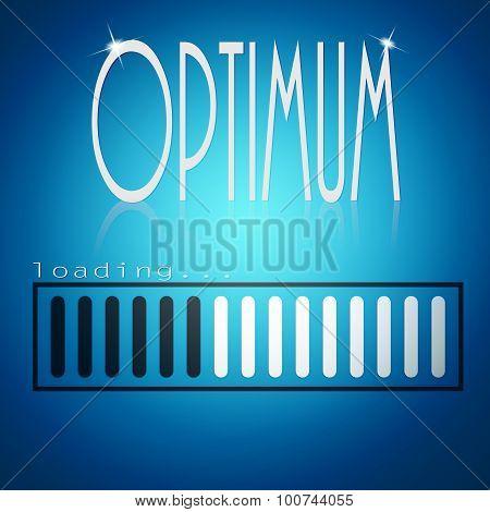 Blue Loading Bar With Optimum Word