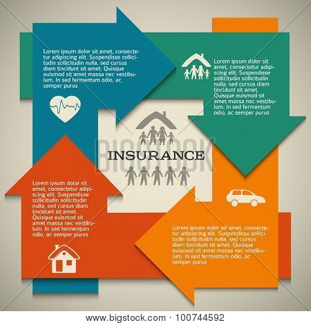 Insurance-arrow-circle-layout-template-banner