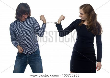 Confrontation of man and woman