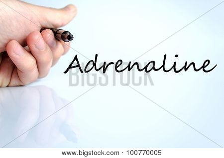 Adrenaline text concept isolated over white background poster