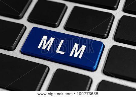 Mlm Or Multi Level Marketing Button On Keyboard