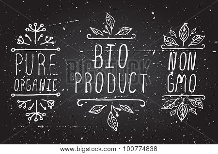 Organic product labels.