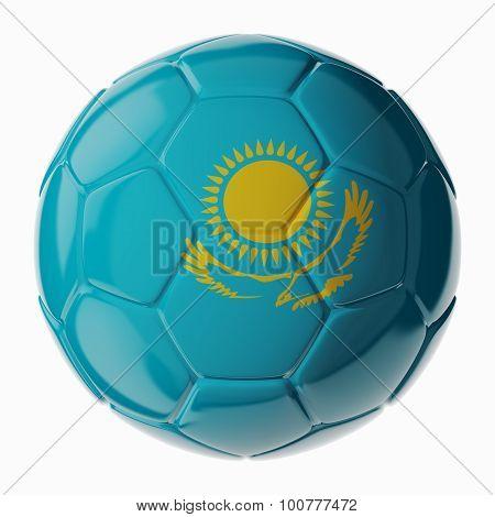 Soccer Ball. Flag Of Kazakhstan