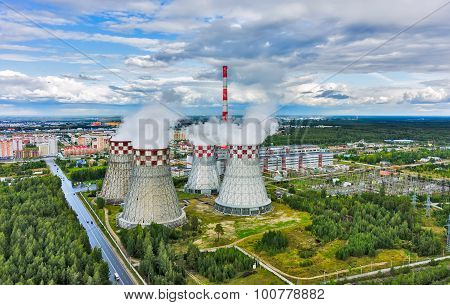 City heating and power plant. Tyumen. Russia