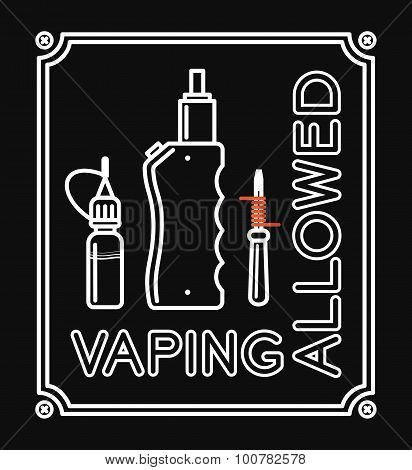 Vape Vector Banner With Text