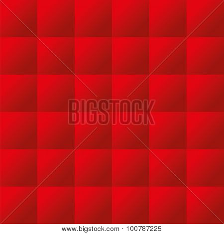 Seamless red padded upholstery vector pattern texture poster