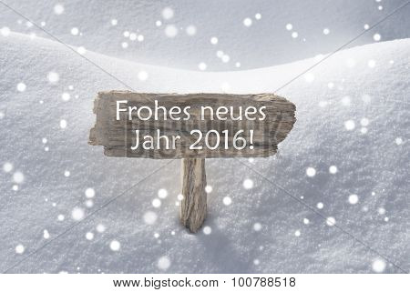 Sign Snowflakes Frohes Neues Mean Happy New Year
