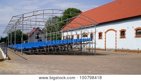 Grandstand On Field For Show Jumping