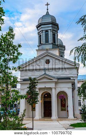 Sfantul Vasile Cel Mare Church In Bucharest City Center, On Calea Victoriei Street.
