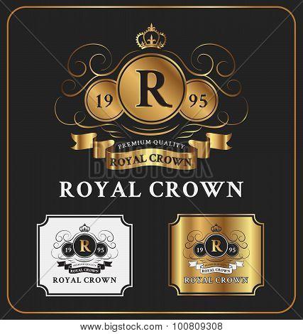 Heraldic Crest Logo Template Design