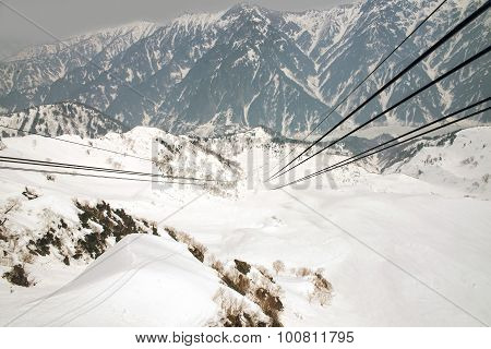 Japan Alps ,cable Car Station, Shinhotaka Ropeway, Takayama Gifu, Japan