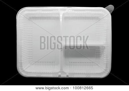 Empty plastic tray