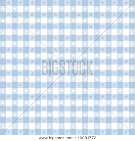 Seamless Tablecloth Pattern, Blue