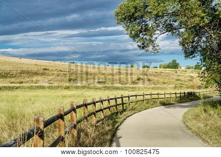 late summer on Poudre River Trail in northern Colorado near Windsor