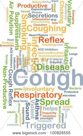 Background concept wordcloud illustration of cough