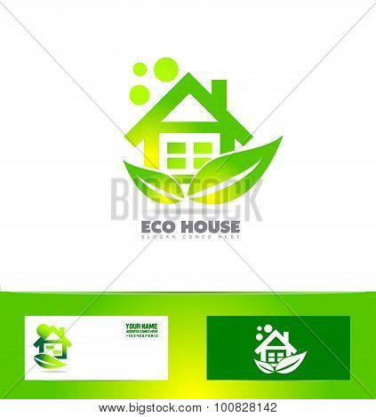 Eco Ecological House Real Estate Logo