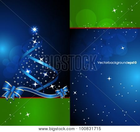 Abstract blue green Christmas background