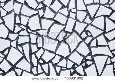 White Vintage Ceramic Tiles Wall Decoration