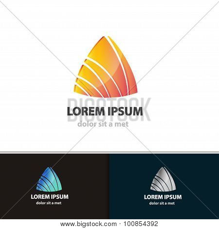 Abstract triangle icon design template. Vector creative shape for your company.