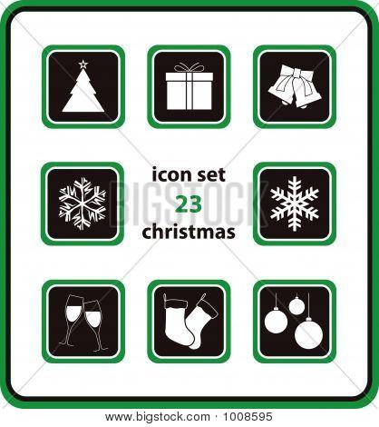 Vector Icon Set 23: Christmas