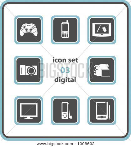 Vector Icon Set 03: Digital