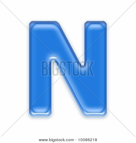 Aqua Buchstaben