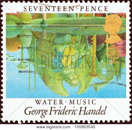 UNITED KINGDOM - CIRCA 1985: Stamp shows Water Music (George Frideric Handel)